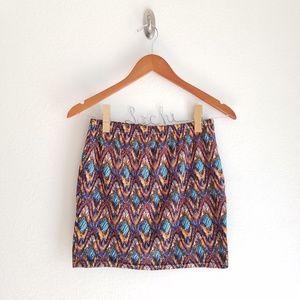 Hot Kiss Patterned Mini Skirt